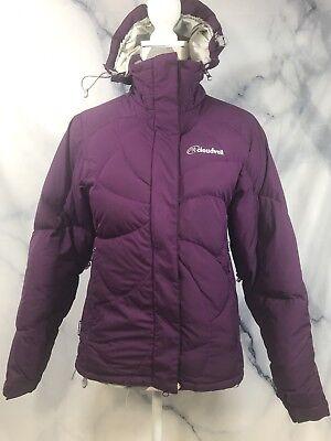 (Cloudveil Goose Down Puffer Ski Jacket Purple Womens Windstopper Sz XS)