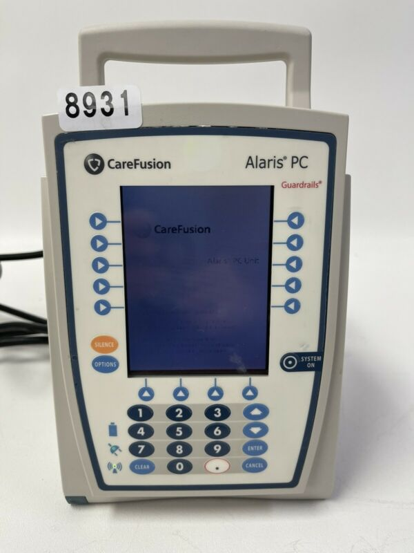 Alaris 8015 Medley Infusion Pump *NEW BATTERY, UPDATED SOFTWARE* CALIBRATED 8931