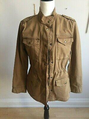 Golden Khaki (Gap BNWT Classic golden khaki utility jacket Sz XSmall full zipper hip length)