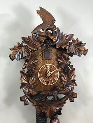 Black Forest 8 day Mechanical Cuckoo Clock The Fox , Raven and the grapes