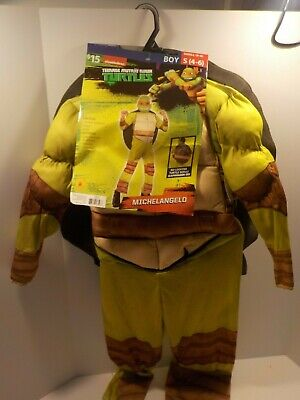 Teenage Mutant Ninja Turtle Halloween Costume Michelangelo TMNT Small NEW