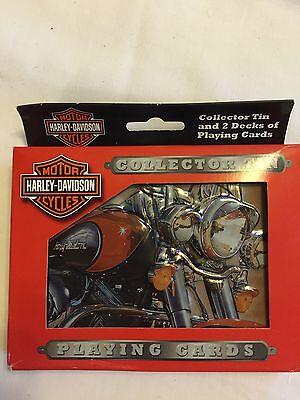 Harley Davidson Collector Tin Playing Cards - 2 Decks