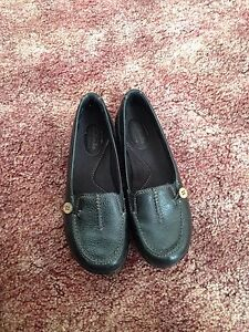 Clarks slip on shoes.
