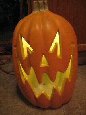 """Large 17"""" Tall Halloween Pumpkin Foam Blow Mold Light Up Jack O Lantern"""