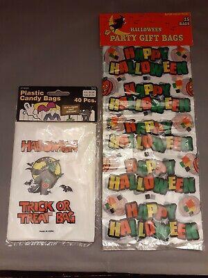 Halloween Trick Or Treating Bags (Vintage Halloween Trick Or Treat Candy Bags NIP Plastic 1997 Michaels)