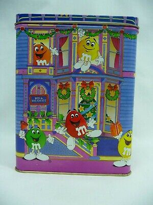 M&M Peanut 1995 Christmas Bed And Breakfast Decorative Tin M & M's ()
