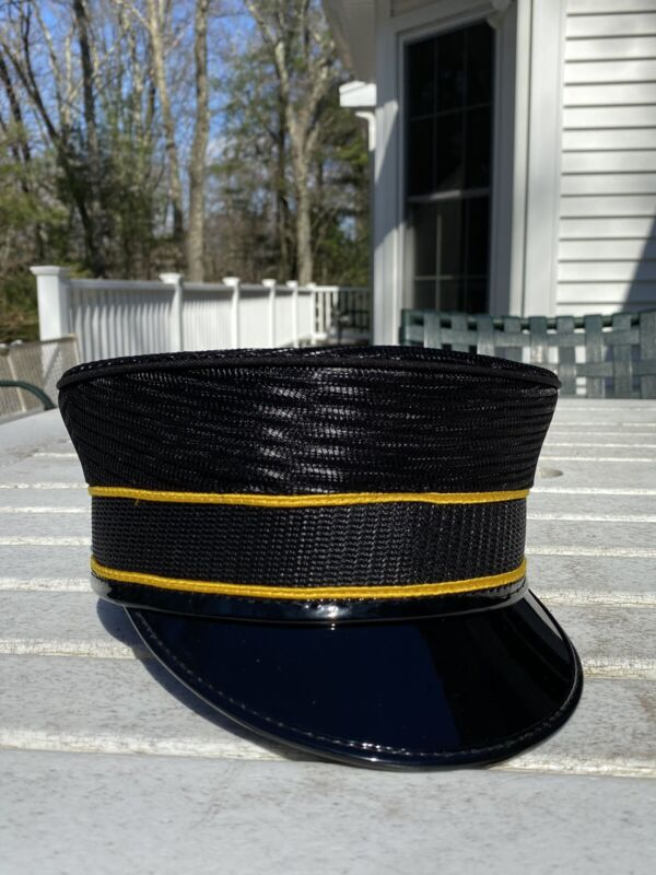Railroad or Trolley Conductor Hat, 7 1/8, brand new, black all mesh.