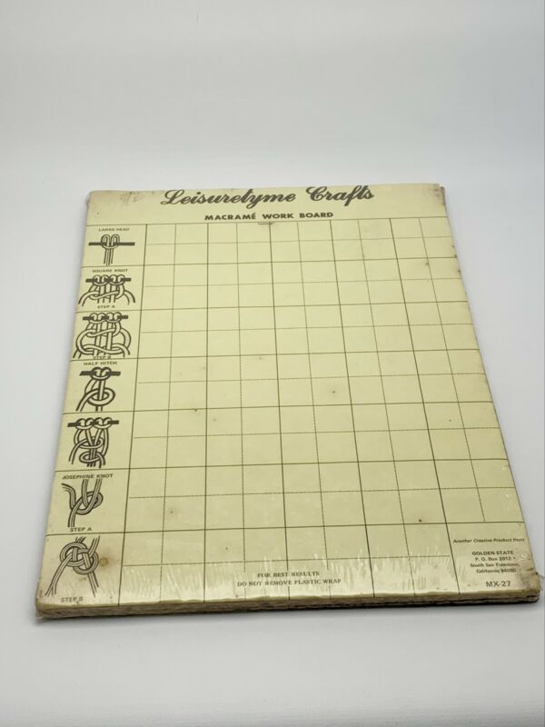 NIP New Leisuretyme Crafts Macrame Work Board Vintage 1980