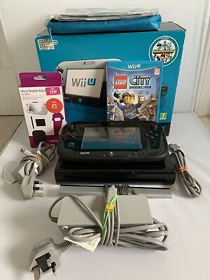Nintendo Wii U 32GB Boxed Console - Lego City - Accessories - All Cables
