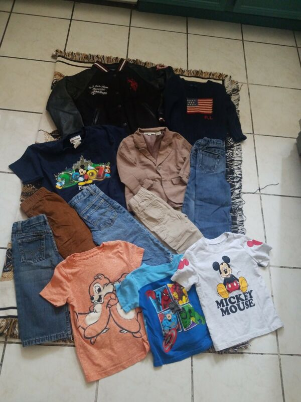 Lot Of 12 Pieces Of Boys Clothes  Sizes 18m 24m, 2t, Xs & Boys 6x All Used