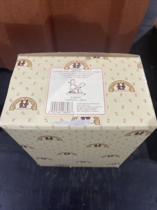 Enesco Memories of Yesterday #525677 Loving You One Stitch At A Time. Boxed