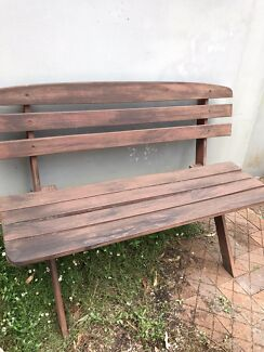 Outdoor Timber Bench 2 Seater Wooden Garden Bench Chair Outdoor Dining Furniture Gumtree