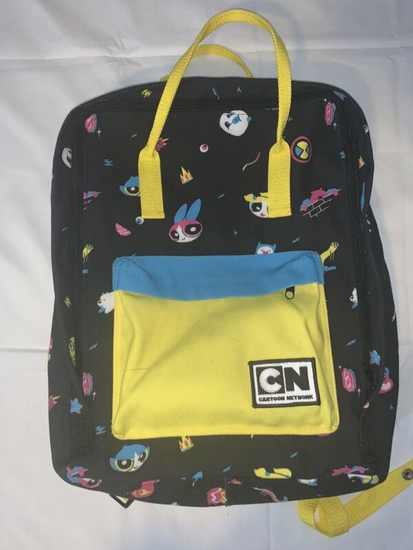 Cartoon Network Backpack Powerpuff Black And Yellow