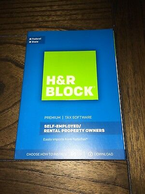 H R Block Premium 2017 Tax Software For Self Employed And Rental Property Owners