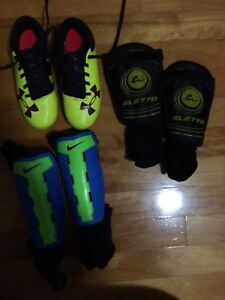 Toddler cleats and shin pads