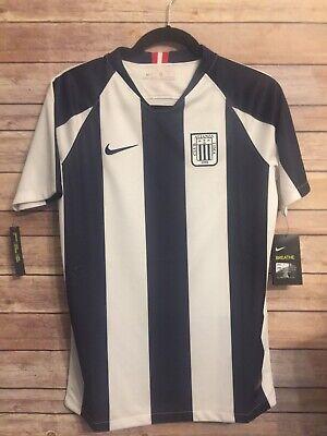 Nike 2020 Club Alianza Lima Peru Soccer Home Jersey Size YOUTH XL New Navy White image