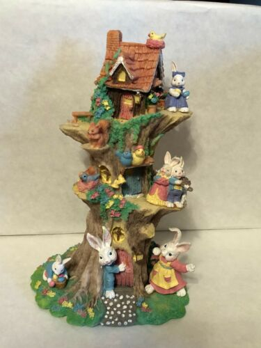 Easter Tree with Bunnies