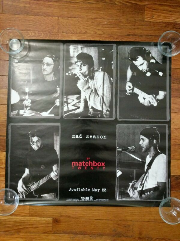 Matchbox Twenty 2000 Mad Season Original Black & White Promo Poster