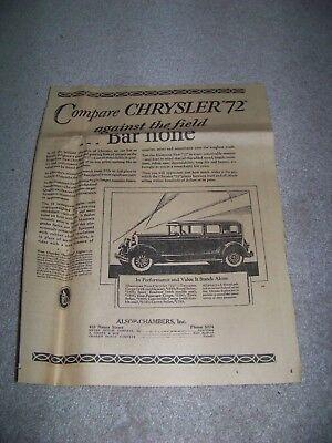 1928 Roanoke Times Va Alsop Chamber A  Giesen   Son Myers Motor Chrysler 72