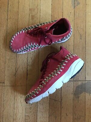 NIKE AIR FOOTSCAPE WOVEN Chukka Red Reef Sz US11 543208-863 2012