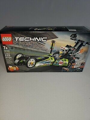 """LEGO Technic Dragster 42103 Pull-Back Racing Toy New 2020 (225 Pieces) """"New"""""""
