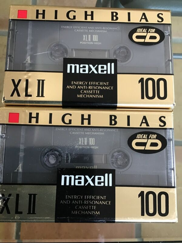 2 - Maxwell XLII 100 High Bias Blank Cassette Tapes Sealed