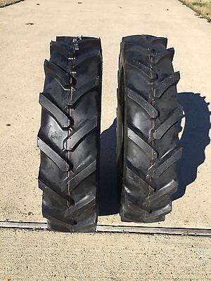 Two 7-16 7x16 Compact Tractor Farm Tires Heavy Duty Ag R-1 Superlug 6 Ply