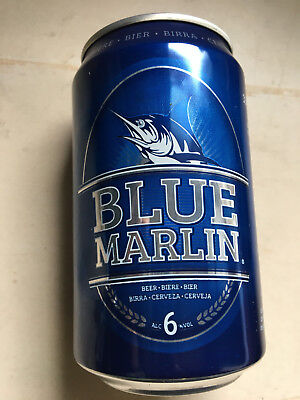 Blue Marlin Beer Can   Made In Mauritius