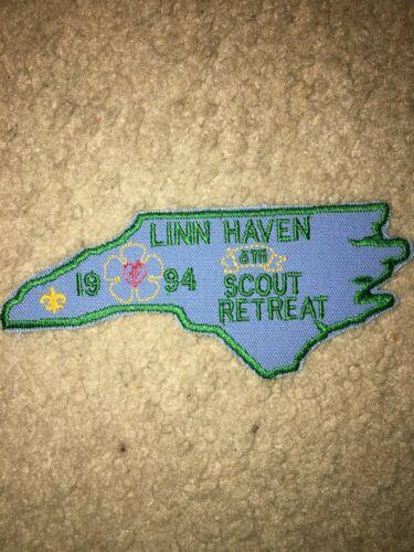 Boy Scout BSA Linn Camp Haven 1994 Retreat Council North Carolina Shape Patch