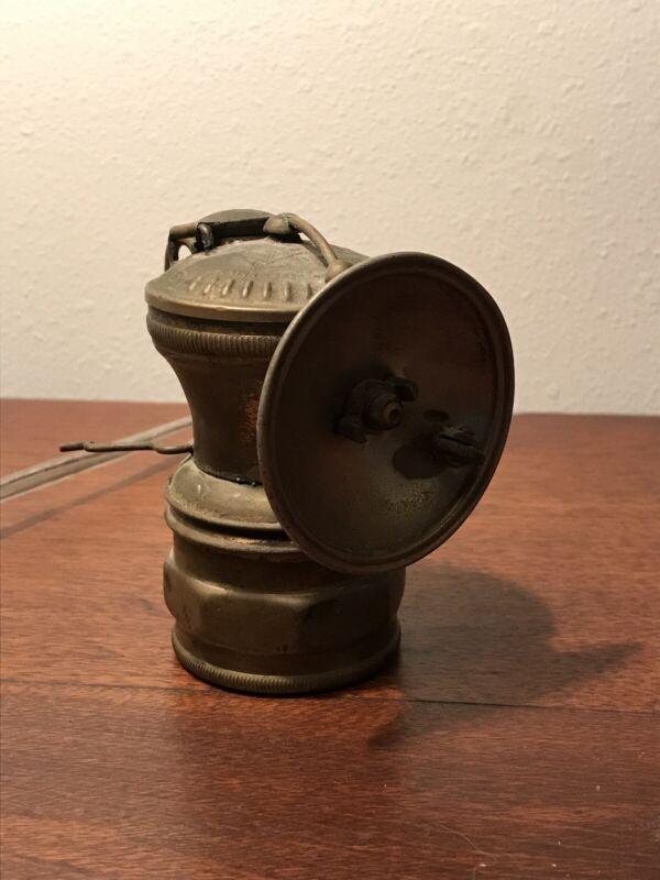 Antique Miners AUTO-LITE CARBIDE LAMP -WORKING - EXCELLENT!! Chicago IL