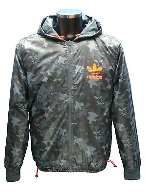 ADIDAS ORIGINALS CAMO REVERSIBLE WINDRUNNER HOODED TRACKSUIT TOP TRAINING JACKET