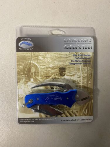 Myerchin P300BL Blue Marlin Spike Boating Knife Sailors Tool w/ Pliers + Sheath