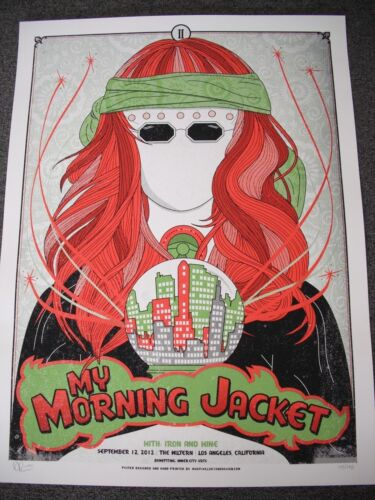 """SIGNED/LIMITED """"MY MORNING JACKET"""" CONCERT POSTER FROM 2012 LOS ANGELES GIG!"""