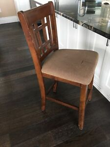 "Six bar chairs counter height 25"" (high)"