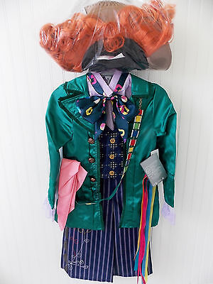 NEW Disney Store MAD HATTER Costume WIG Alice in Wonderland Halloween Child Boys ()