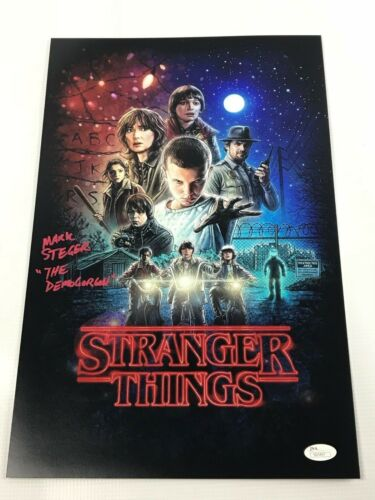 Mark Steger SIGNED 11x17 Photo AUTOGRAPH Stranger Things COA