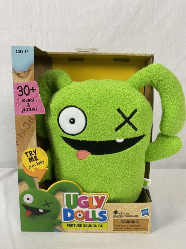 """2019 Hasbro 9"""" Uglydolls Feature Sounds Ox 30 Sounds and Phrases New"""