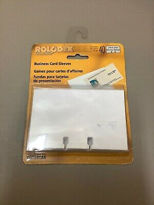 Rolodex Business Card Sleeves Q67691as 40