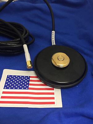 MAGNET BASE NMO MOUNT SMA MALE MAGNETIC  UHF VHF ANTENNA BASE NMO MADE IN USA (Nmo Base)