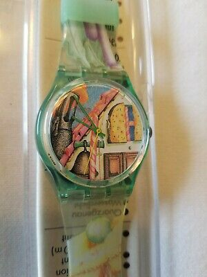 New Vintage Swatch Watch 1993 Le Chat Botte GG123 NOS! With Case