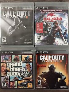4 Ps3 Games and Controller
