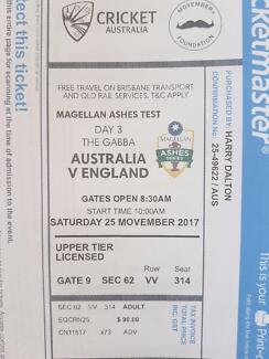Sat Brisbane Ashes ticket