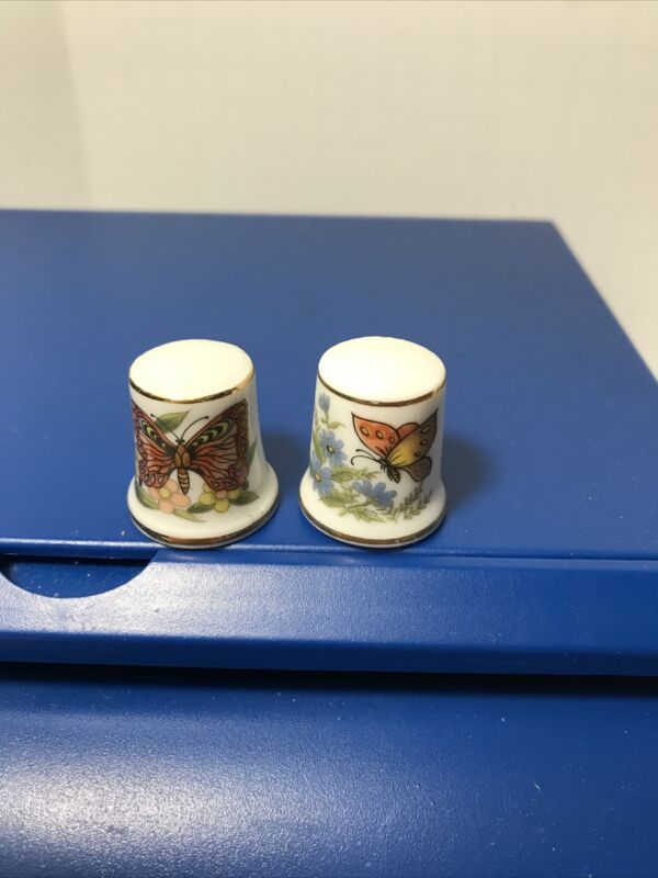 2 Thimbles With Butterflies