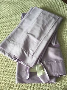 Pottery barn violet purple drapes