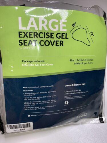 "Bikeroo Exercise Gel Seat Cover LARGE Seat Cover 10""x11 "" Soft Gel  NIP FS!"