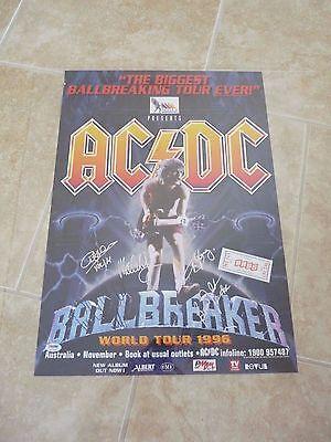 AC/DC Signed Autographed Poster PSA Certified 1996 Ballbreaker Australia Tour