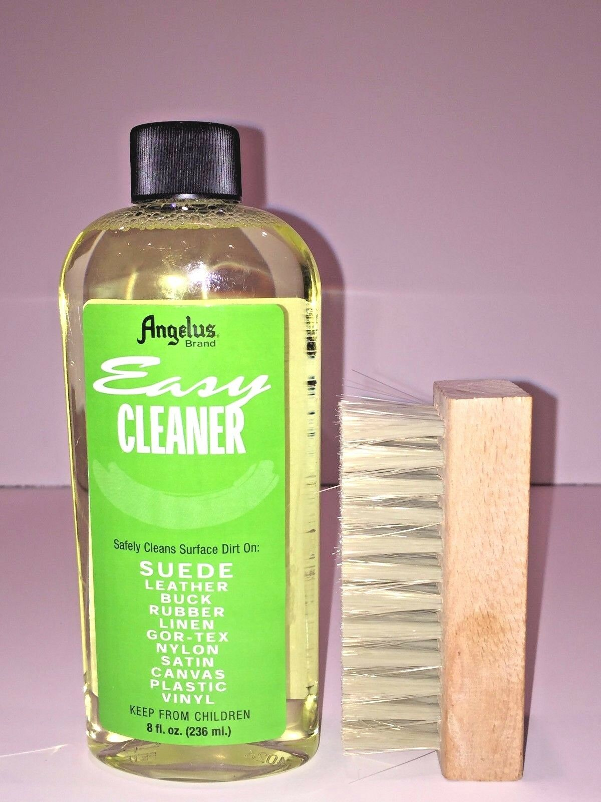 Angelus Easy Cleaner Suede Cleaning Kit Shoe Cleaning kit 8oz with 4″ Brush Clothing & Shoe Care