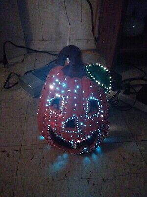 Vintage Halloween Decoration glowing pumpkin jack-o'-lantern LED lights
