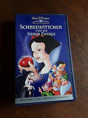 VHS Walt Disney Meisterwerk Schneewittchen und die sieben Zwerge