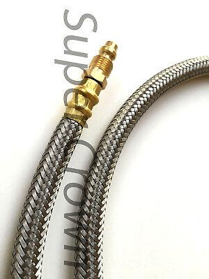High Pressure Flexible Stainless Mesh Surround Lube Hose Bijur 4mm X 41.3 Showa